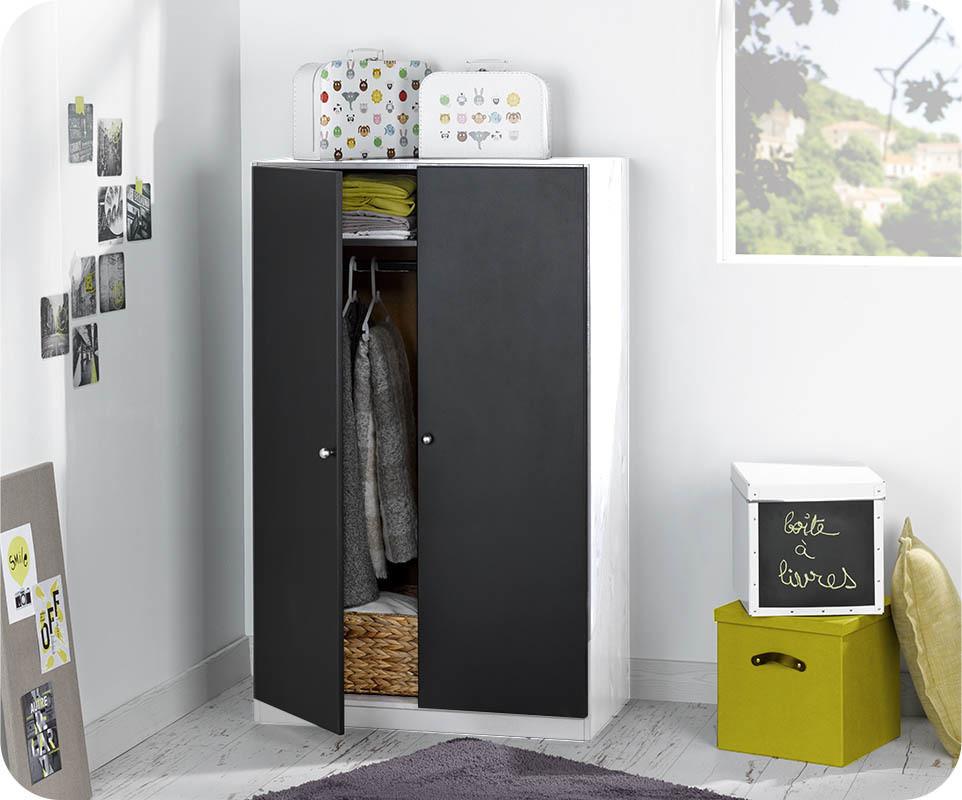 armoire enfant cargo blanc mobilier ecologique en pin massif. Black Bedroom Furniture Sets. Home Design Ideas