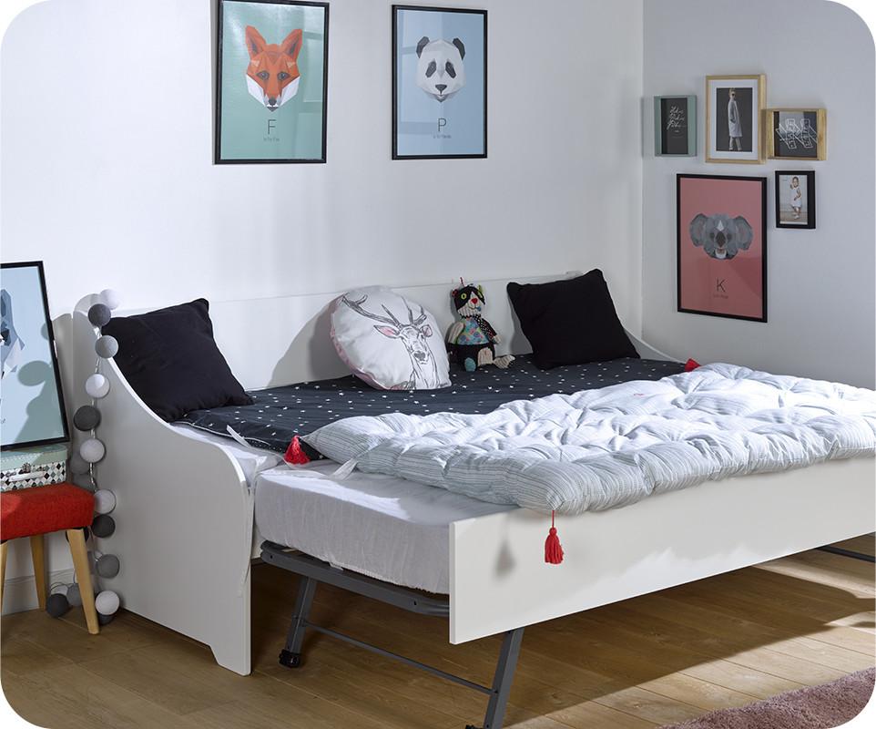 lit gigogne lylo blanc 80x200 cm. Black Bedroom Furniture Sets. Home Design Ideas