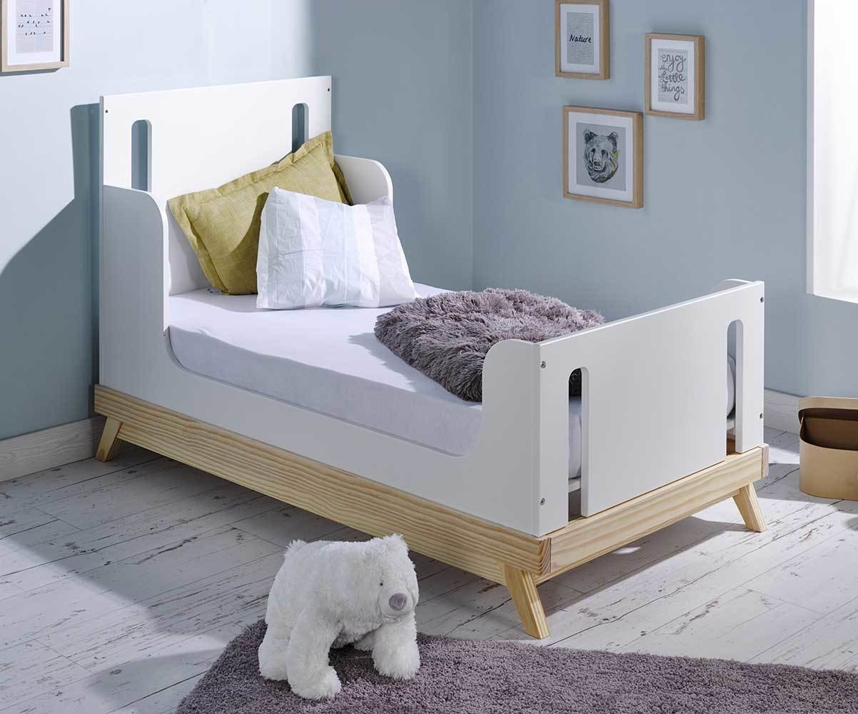 lit b b volutif songe blanc et bois avec matelas b b. Black Bedroom Furniture Sets. Home Design Ideas