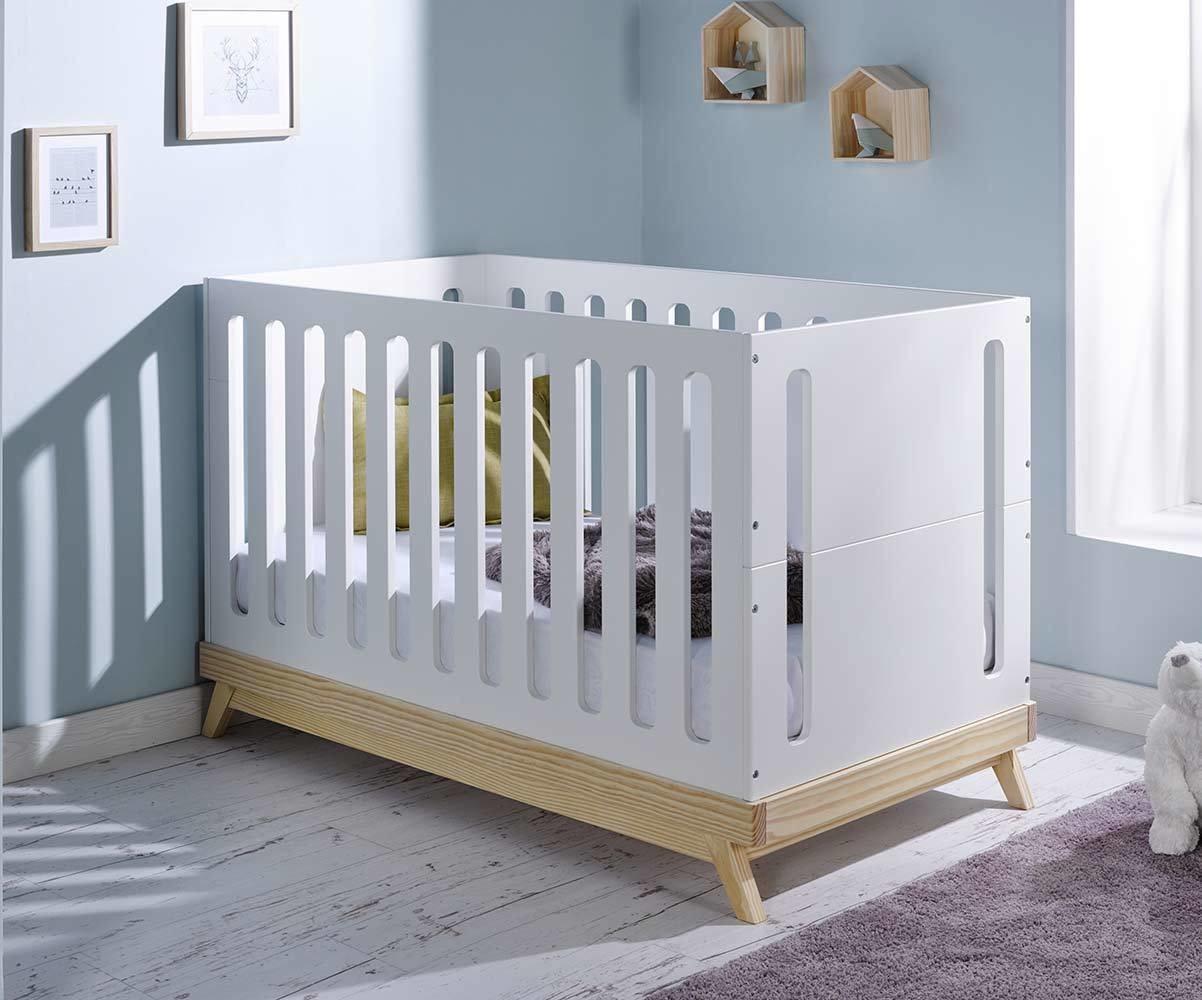 lit b b volutif songe blanc et bois avec matelas b b