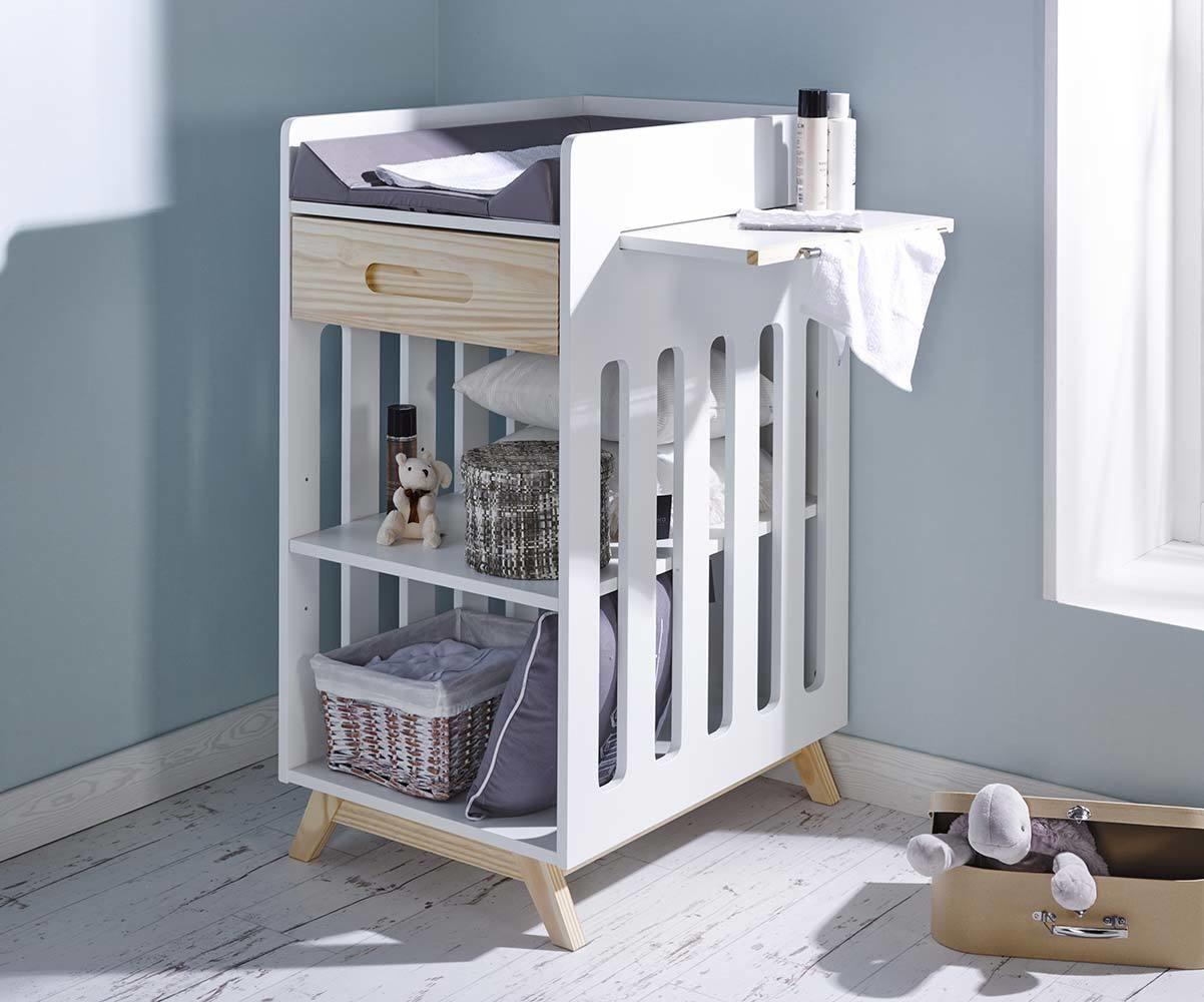 table langer songe blanche et bois. Black Bedroom Furniture Sets. Home Design Ideas