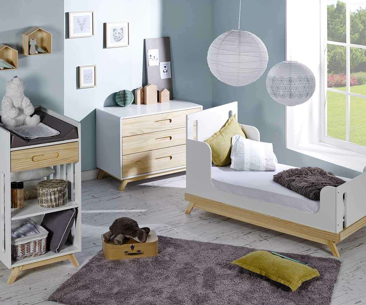 Mini chambre b b songe blanche et bois - Chambre blanche et bois ...