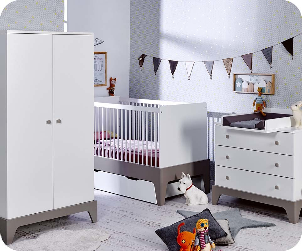 chambre b b moon blanche et lin chambre et mobilier pour enfant. Black Bedroom Furniture Sets. Home Design Ideas