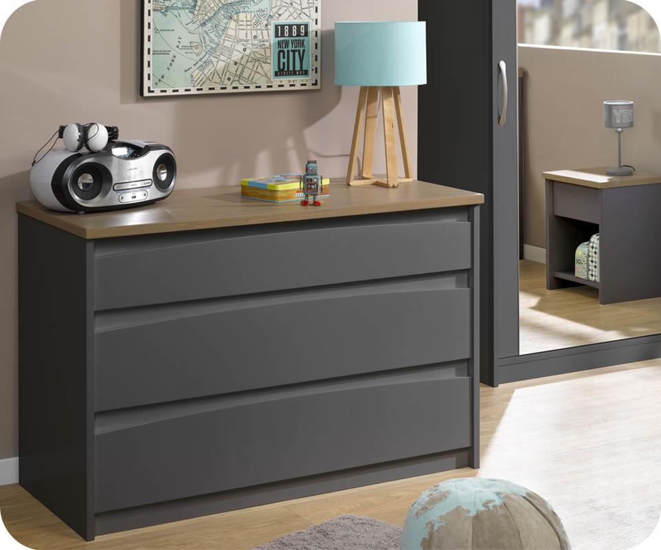 achat vente commode enfant island gris anthracite. Black Bedroom Furniture Sets. Home Design Ideas