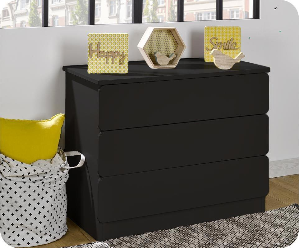 Commode enfant twist gris anthracite - Commode gris anthracite ...
