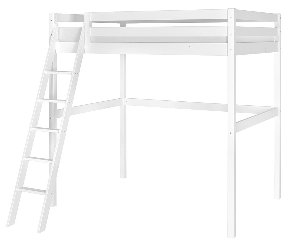 lit enfant mezzanine cargo blanc 140x200 cm. Black Bedroom Furniture Sets. Home Design Ideas