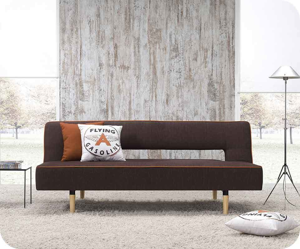 banquette convertible flicky chocolat mandarine chambre et mobilier design. Black Bedroom Furniture Sets. Home Design Ideas
