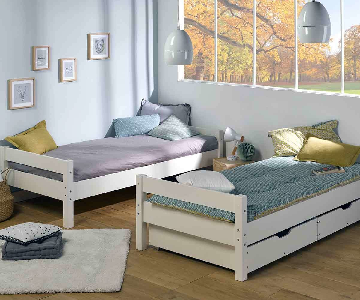 Lit enfant superpos wood blanc 90x190 cm - Vente privee lit enfant ...