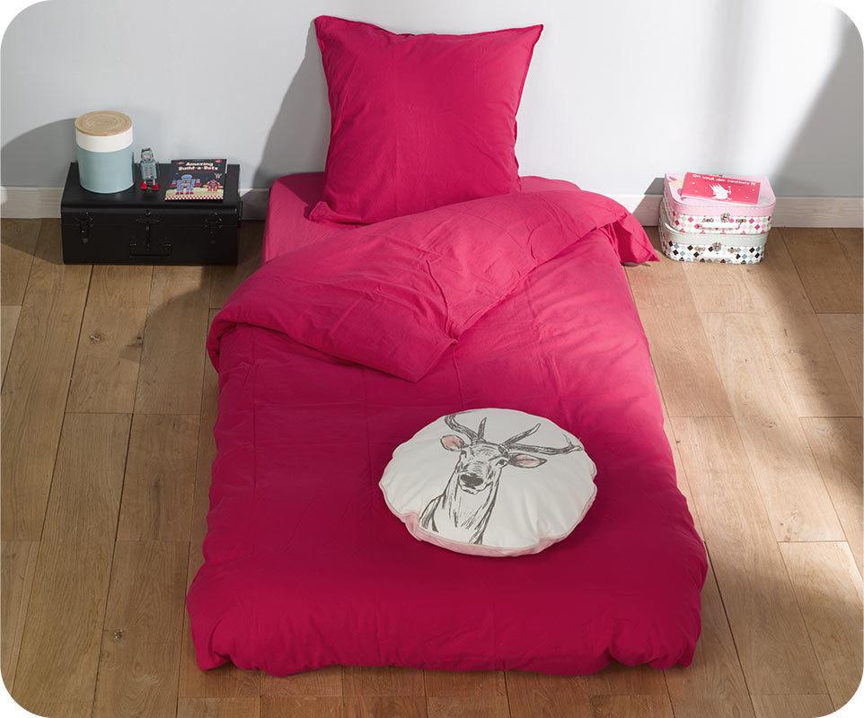 Housse de couette perla cranberry 140x200 cm avec taie for Housse de couette teo jasmin 140x200