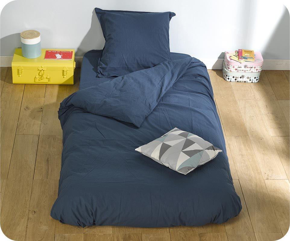 housse de couette perla marine 140x200 cm avec taie. Black Bedroom Furniture Sets. Home Design Ideas