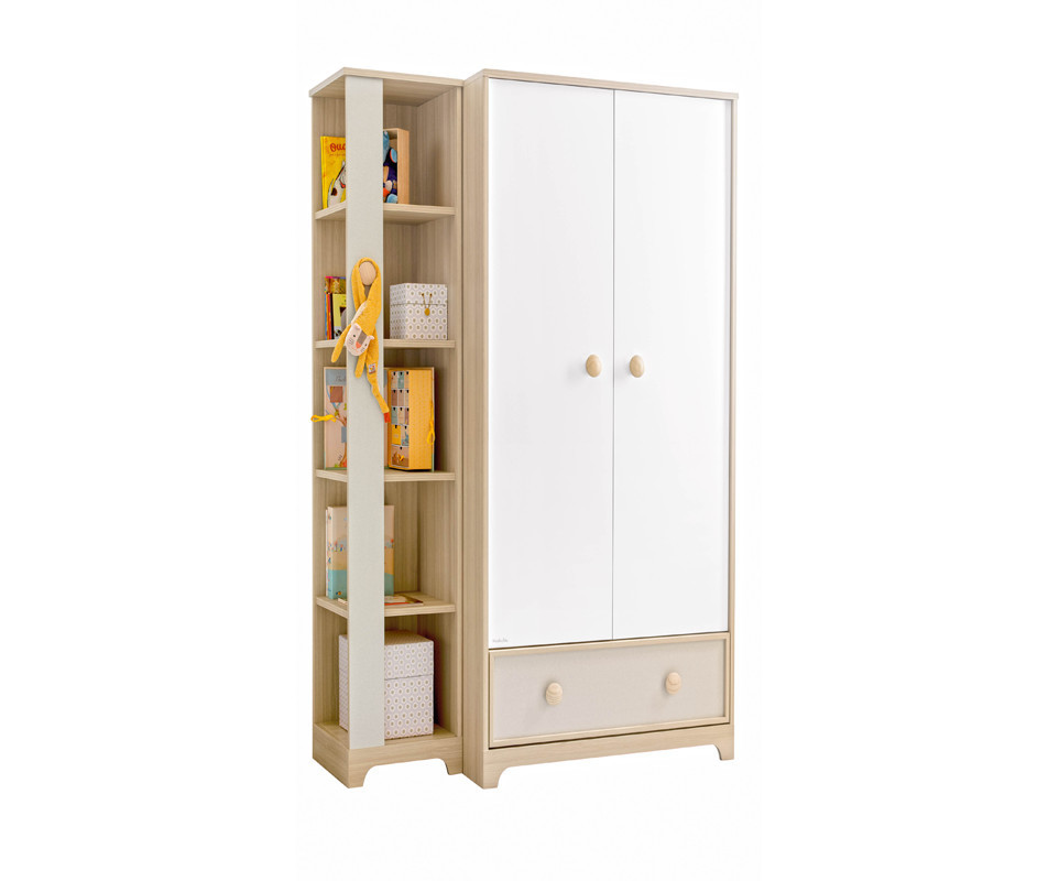 Grande biblioth que ol bois et blanche - Grande armoire blanche ...