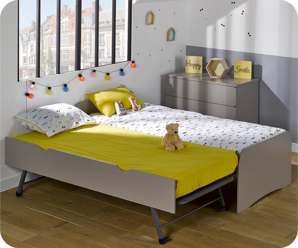 lit enfant gigogne twist lin 90x190 cm. Black Bedroom Furniture Sets. Home Design Ideas