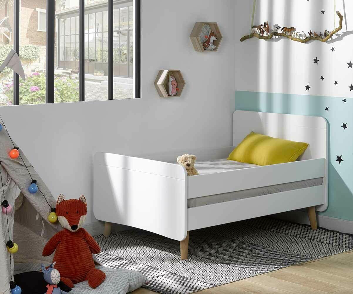 lit enfant volutif willow blanc avec pieds. Black Bedroom Furniture Sets. Home Design Ideas