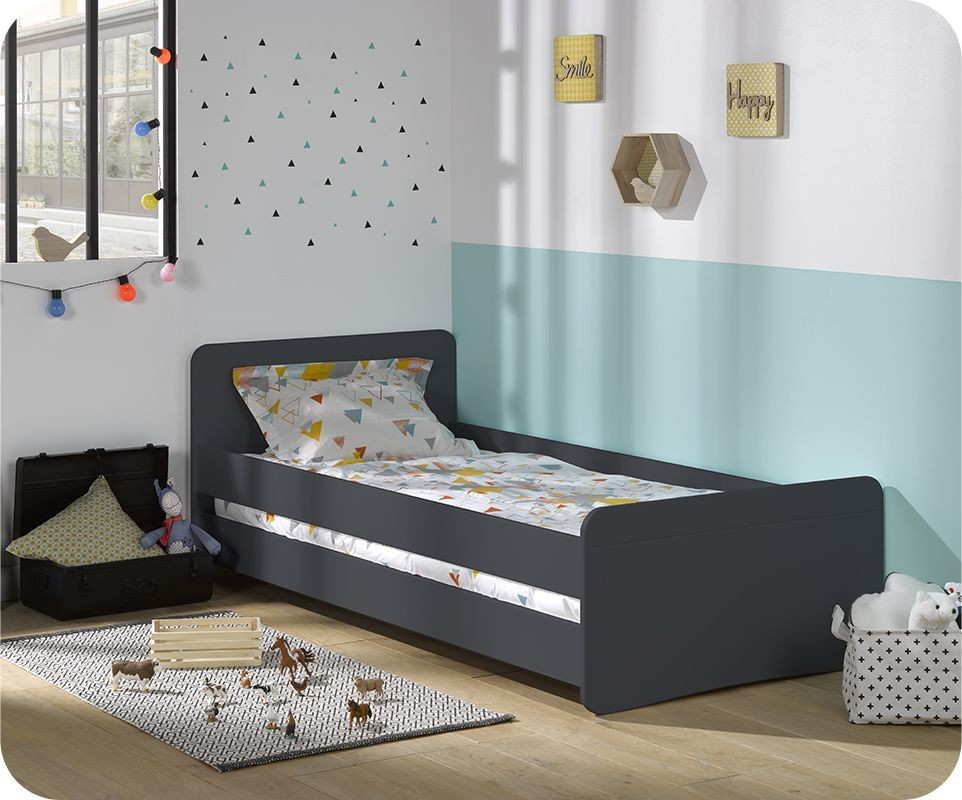 Lit enfant willow gris anthracite 90x190 cm - Vente privee lit enfant ...