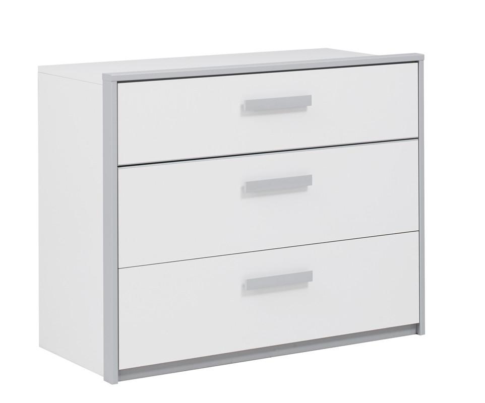 commode enfant tim o blanche et grise. Black Bedroom Furniture Sets. Home Design Ideas