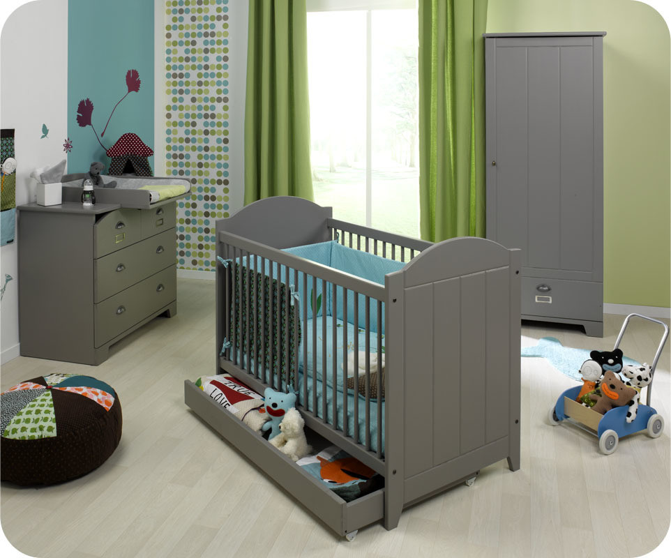 Lit b b chambre b b mobilier enfant cologiques matelas bio ma chambre - Peinture pour meuble bebe ...