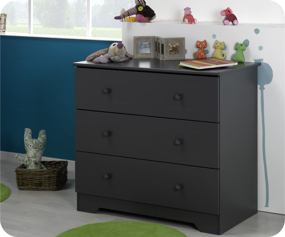 Commode b b oslo grise for Commode chambre bebe