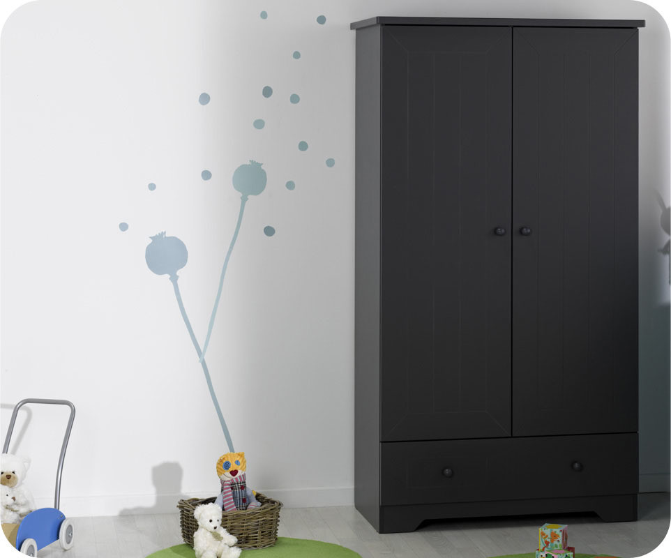 En soldes armoire b b oslo warm grey for Soldes armoire chambre