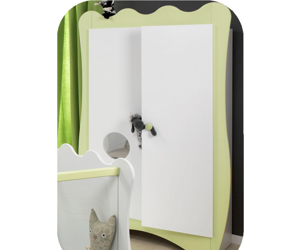 En soldes armoire b b doudou vert anis k roumanoff for Soldes armoire chambre