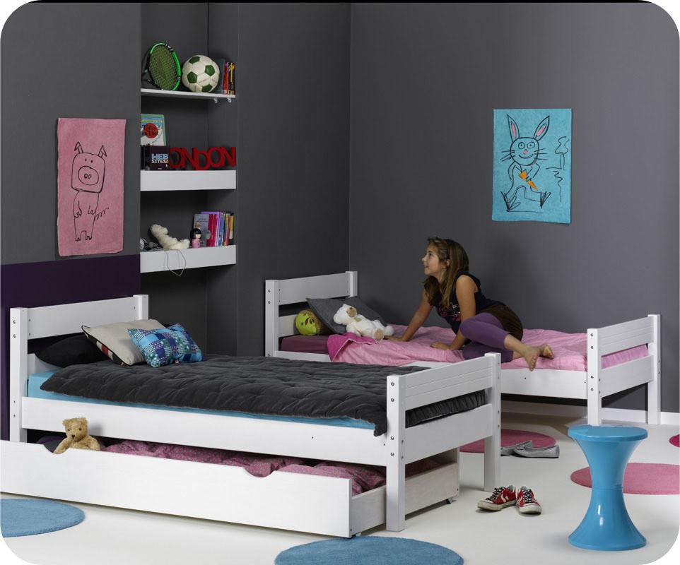 lit enfant superpos 1 2 3 blanc 90x190 cm. Black Bedroom Furniture Sets. Home Design Ideas