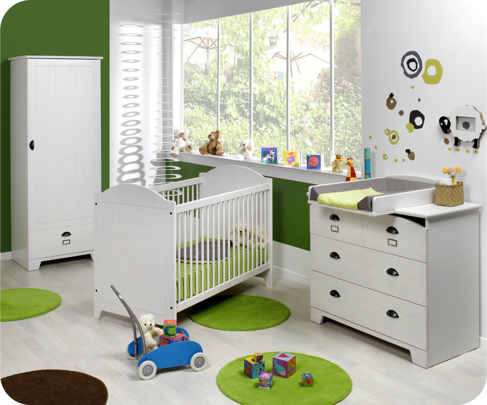 Great chambre bebe garcon moderne chambre bebe mobilier - Decoration chambre garcon foot ...