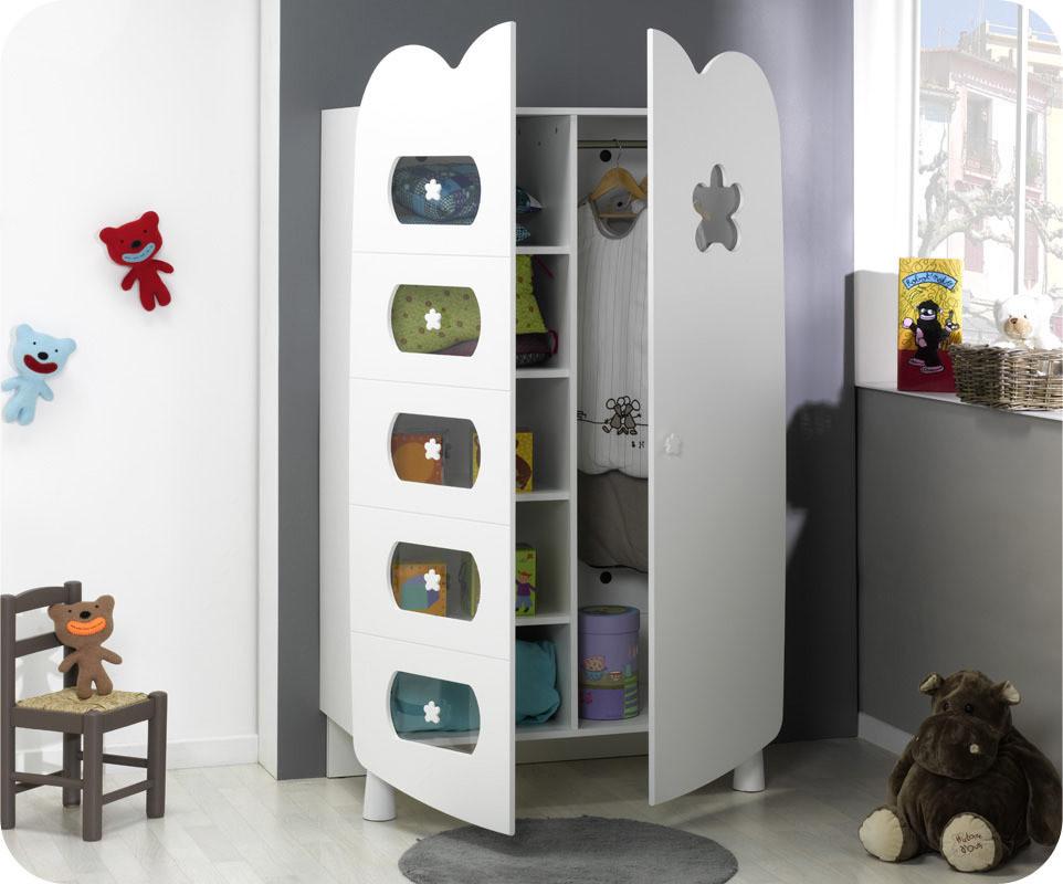 armoire b b lin a blanche achat vente armoire chambre b b. Black Bedroom Furniture Sets. Home Design Ideas