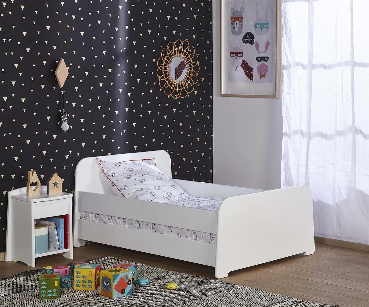 Lit enfant volutif eden blanc for Lit evolutif