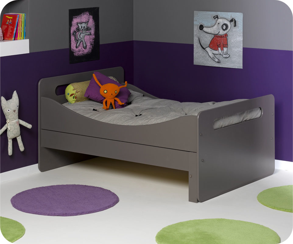 Lit enfant volutif eden taupe for Photo lit enfant