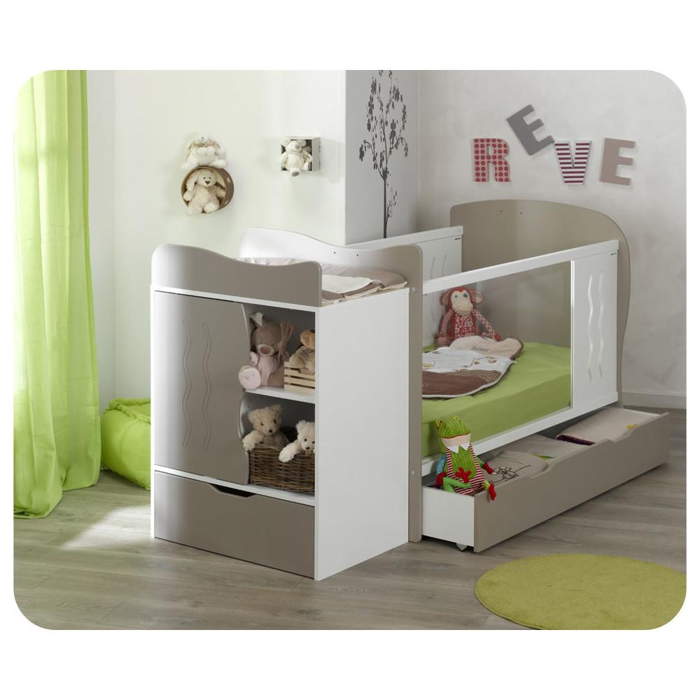 lit b b volutif en plexi jooly avec plan langer lin blanc. Black Bedroom Furniture Sets. Home Design Ideas