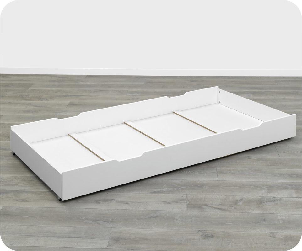 tiroir lit superpos enfant bow blanc 90 x 190 cm ma chambre d 39 enfant. Black Bedroom Furniture Sets. Home Design Ideas