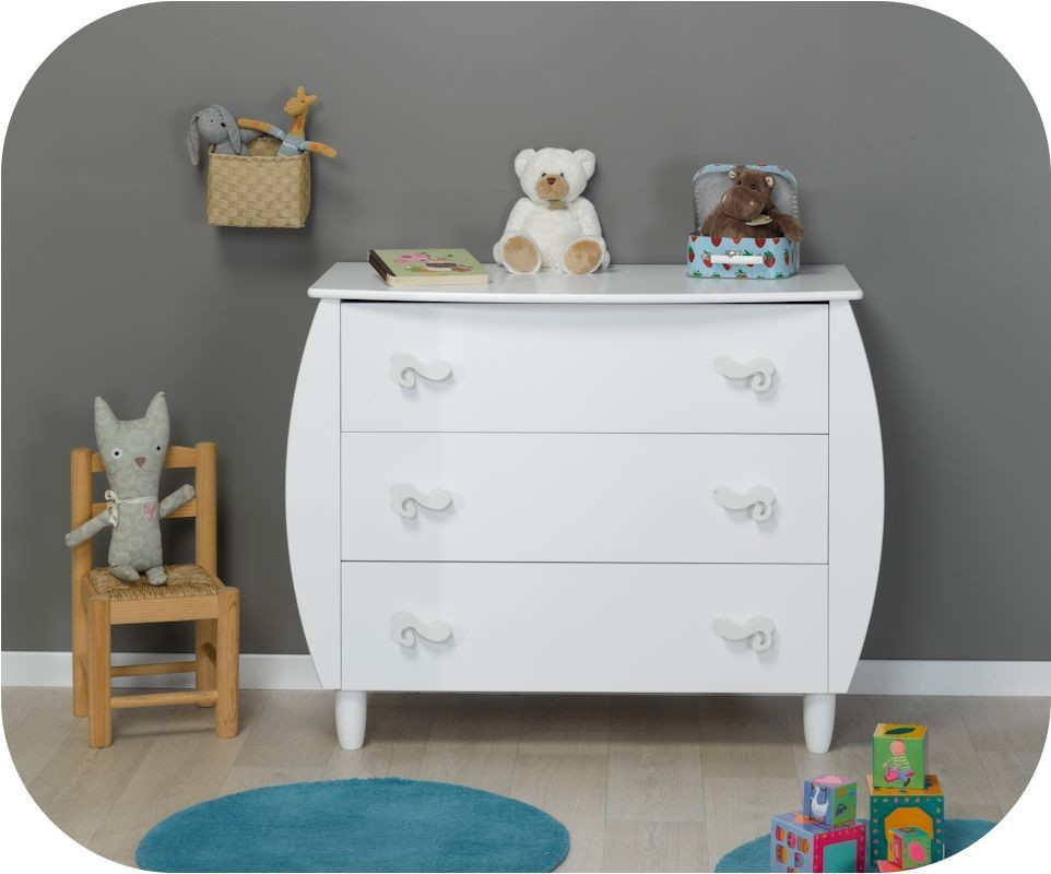 Commode b b lutin blanche - Commode blanche bebe ...