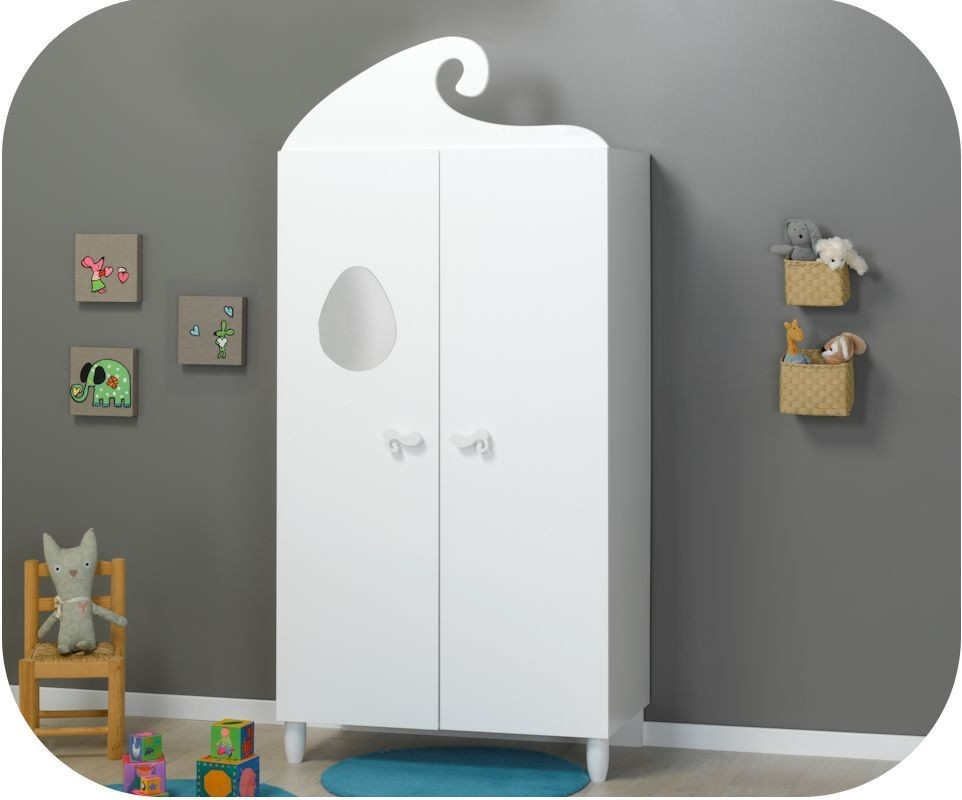 armoire b b lutin blanche achat vente armoire chambre. Black Bedroom Furniture Sets. Home Design Ideas