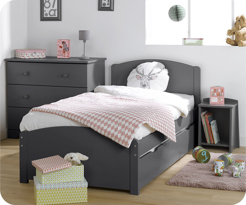 chambre enfant nature compl te grise achat sur ma. Black Bedroom Furniture Sets. Home Design Ideas