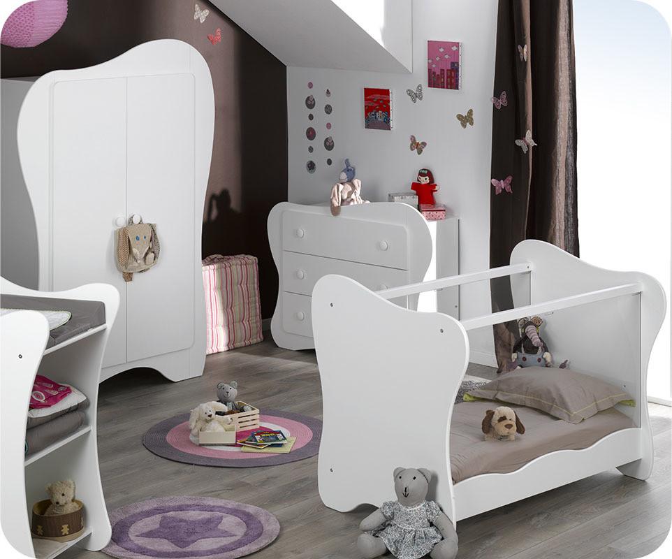 Chambre b b compl te iris blanche achetez votre chambre enfant - Chambre complete de bebe ...
