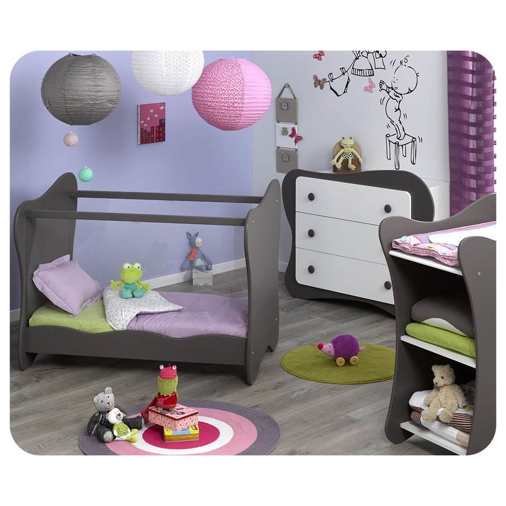 mini chambre b b iris taupe ma chambre d 39 enfant com. Black Bedroom Furniture Sets. Home Design Ideas