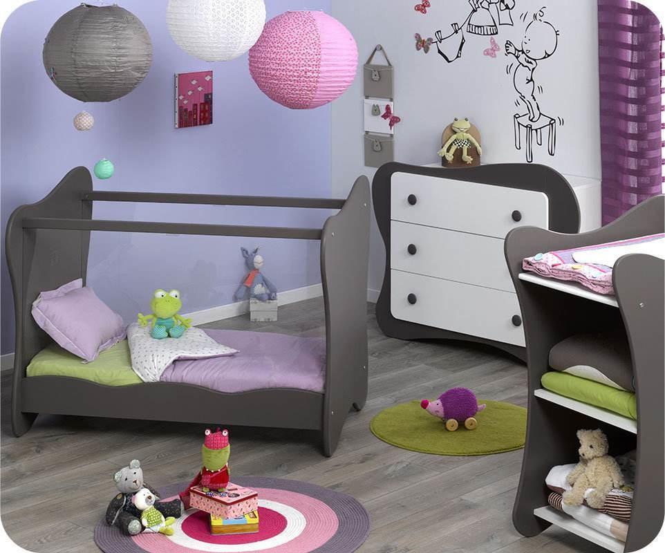 Mini chambre b b iris taupe - Chambre enfant taupe ...
