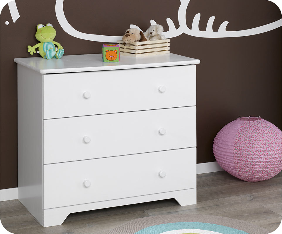 Commode a langer blanche for Commode table a langer bebe