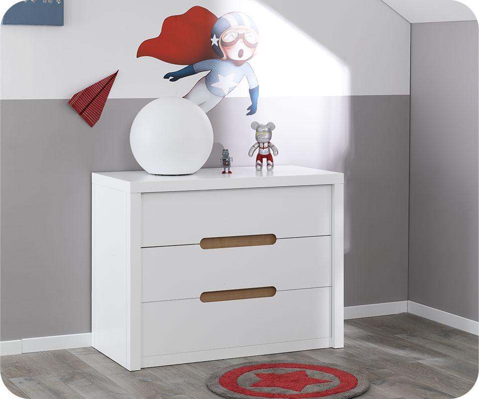 commode enfant bow blanche. Black Bedroom Furniture Sets. Home Design Ideas