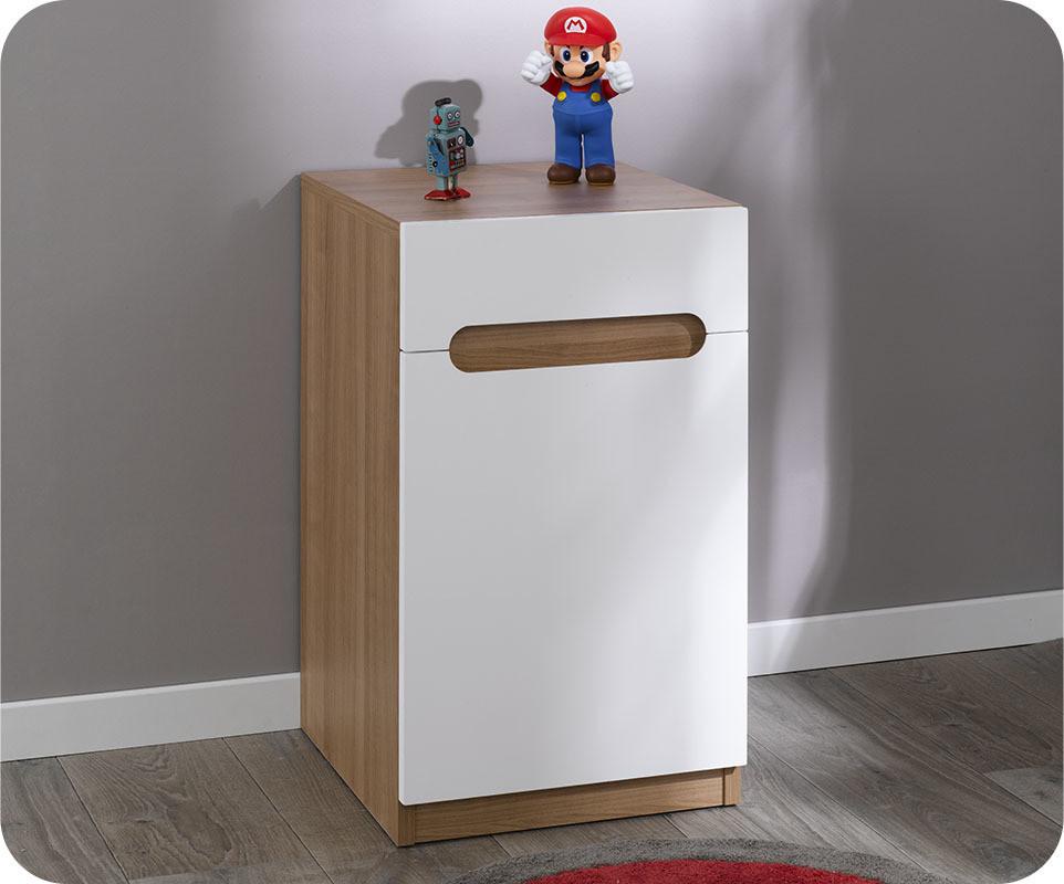 chevet enfant bow blanc com. Black Bedroom Furniture Sets. Home Design Ideas