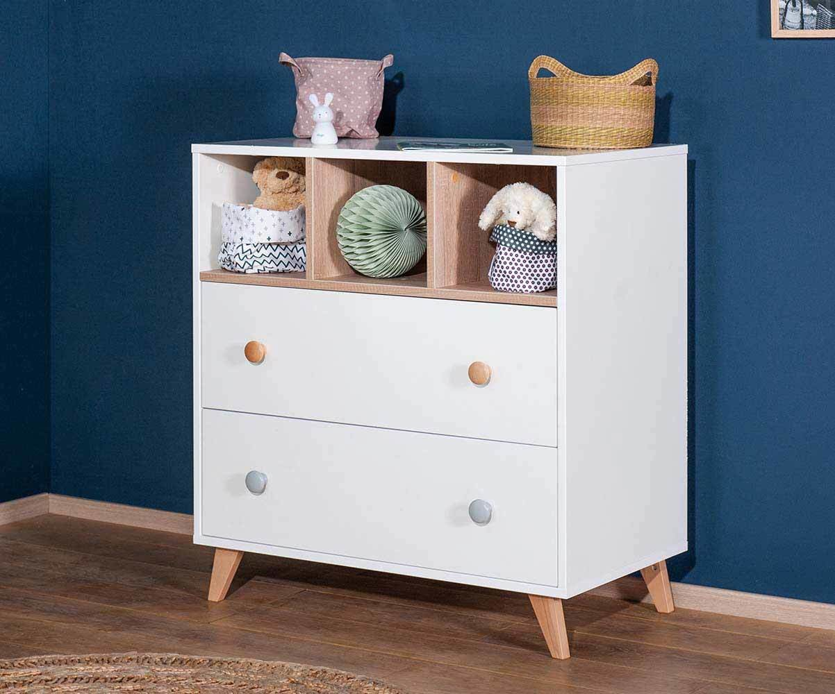Commode b b pepper blanche lin achat vente mobilier langer - Commode chambre enfant ...