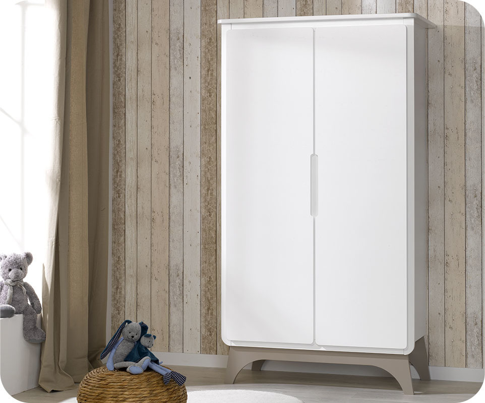 Armoire b b pepper blanche et lin achat armoire chambre - Armoire chambre bebe ...