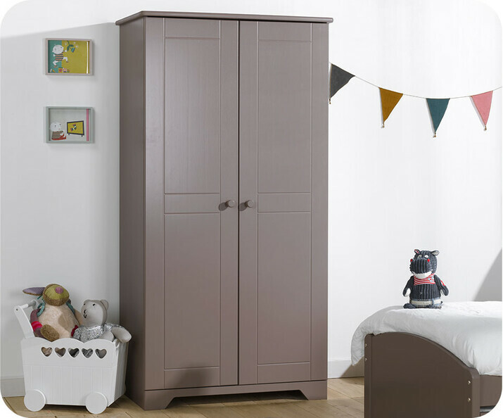 Armoire Enfant Nature Taupe