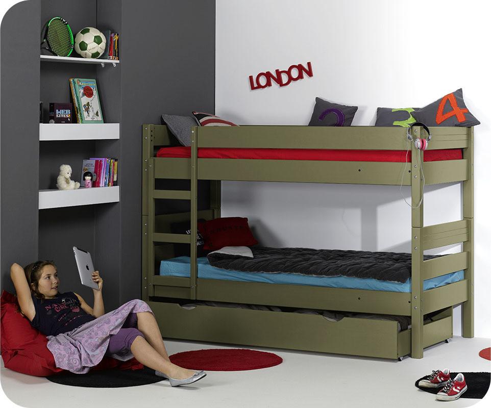 lit enfant superpos 1 2 3 blanc pictures to pin on pinterest. Black Bedroom Furniture Sets. Home Design Ideas