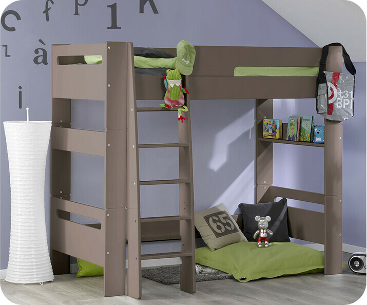 Lit mezzanine achat vente lit mezzanine enfant en bois - Lampe pour lit mezzanine ...