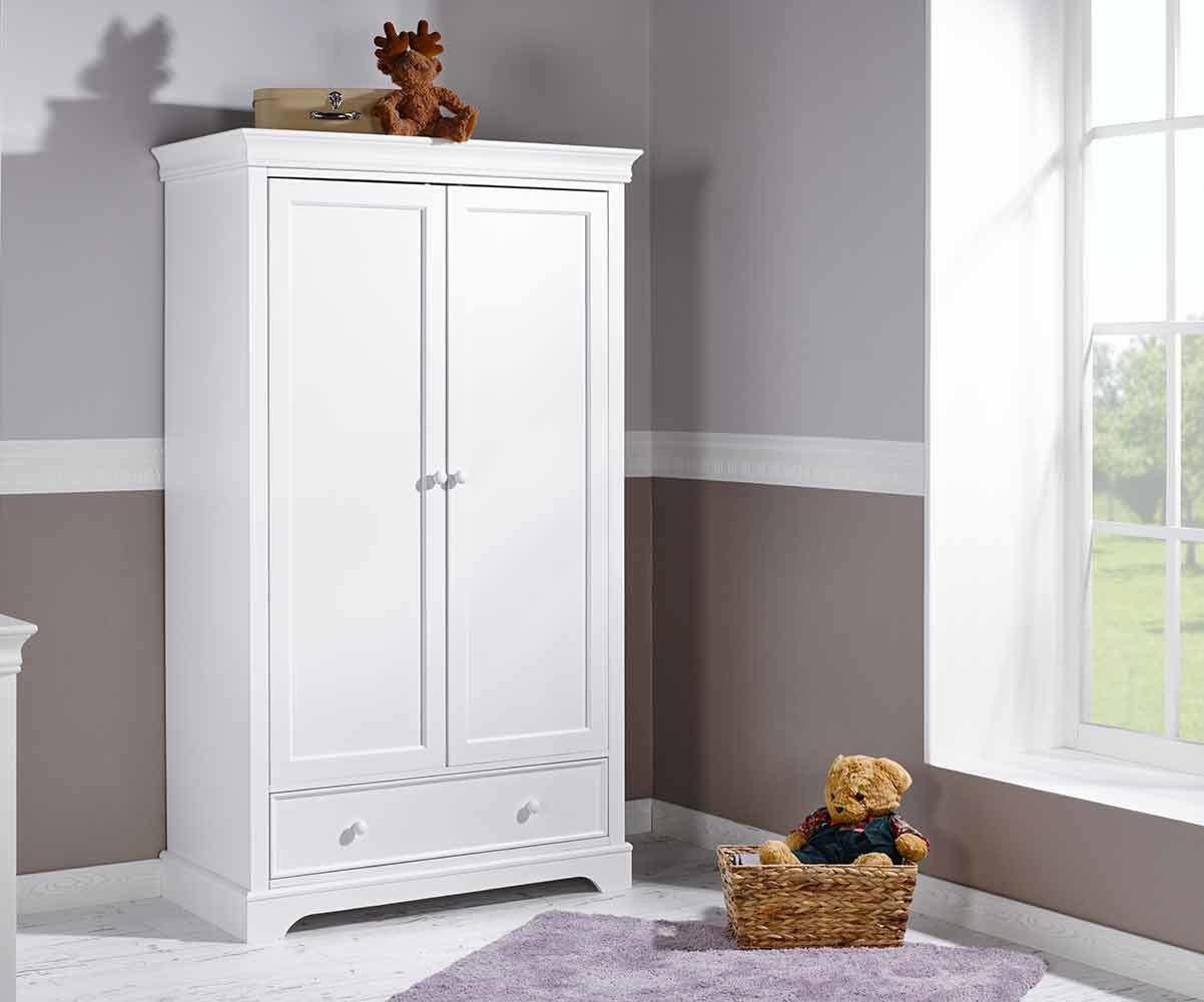 armoire b b mel blanche 2 portes achat mobilier. Black Bedroom Furniture Sets. Home Design Ideas