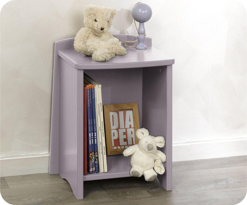 chevet enfant nature lilas pastel mobilier qualit made. Black Bedroom Furniture Sets. Home Design Ideas