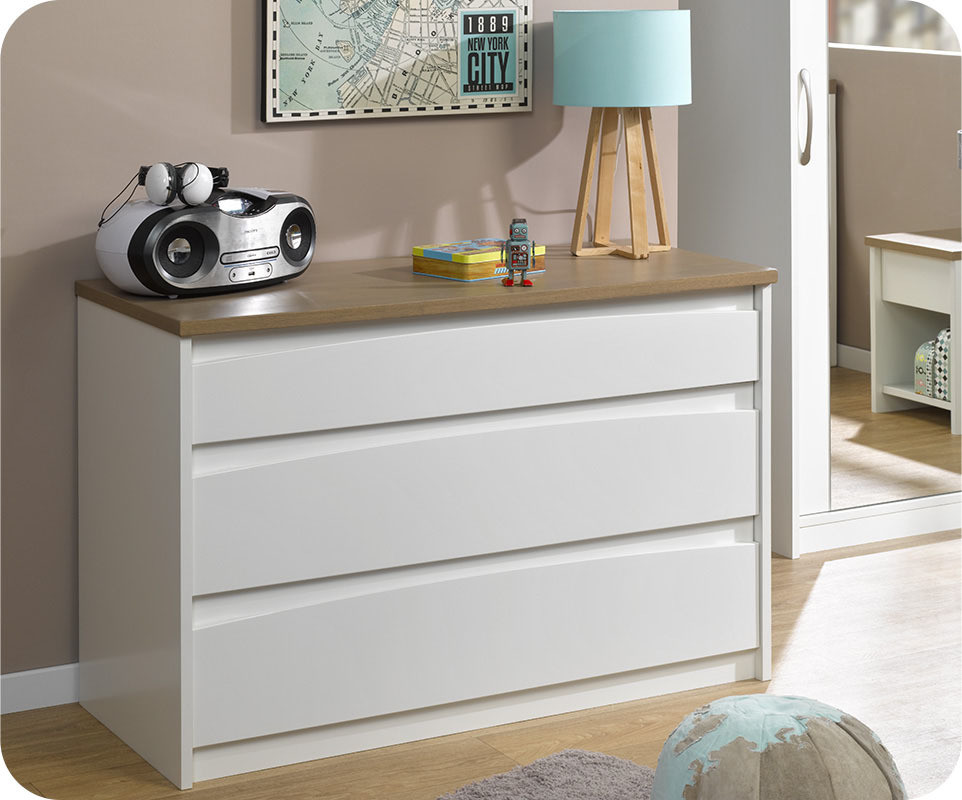 achat vente commode enfant island blanche. Black Bedroom Furniture Sets. Home Design Ideas