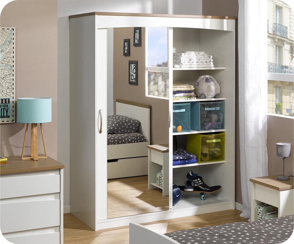 Attractive armoire chambre avec miroir 3 ma chambre for Chambre a coucher avec armoire