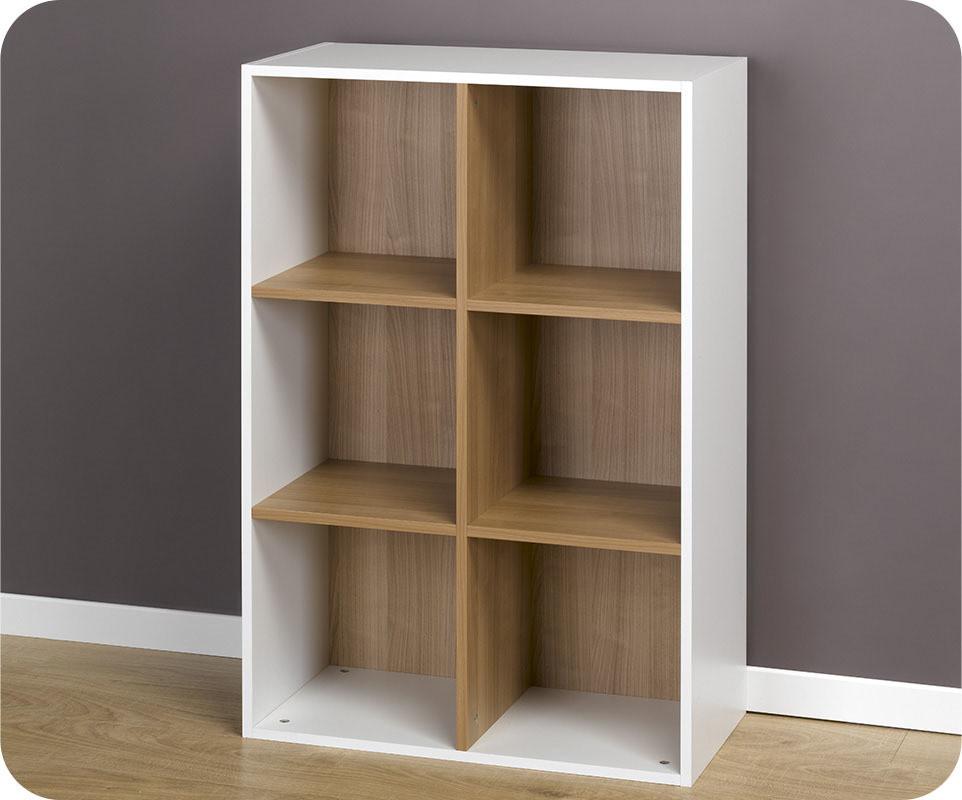 Achat vente etag res 6 cubes de rangement modulables blanc for Meuble cube 6 cases