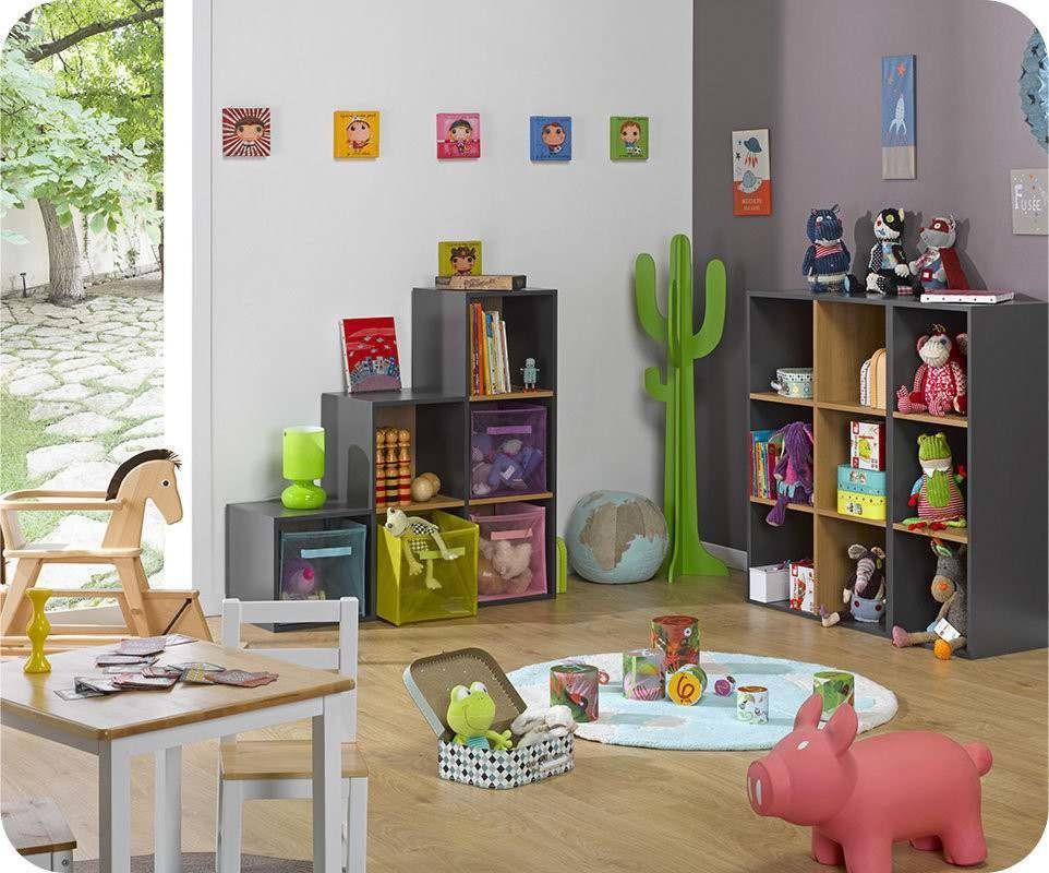 etageres 6 cubes de rangement modulables grisjpg - Rangement Chambre D Enfant